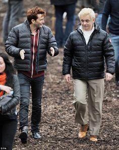The Good Omens shoot David Tennant and Michael Sheen