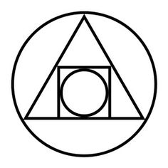 Alchemic Symbol for philosopher's stone which represents the connection between the two sides of life: physical form and higher self.