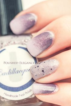 Cadillaquer - Have a Little Faith swatch nail polish purple nail art indie nail polish purple gradient nail art manicure