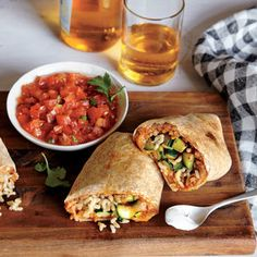 The bean mixture acts as a barrier between the tortilla and the zucchini, so the burritos stay crisp.
