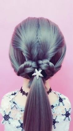 New Hair Styles Simple Easy Hairstyles 55 Ideas Unique Hairstyles, Girl Hairstyles, Braided Hairstyles, Fashion Hairstyles, Hairstyles For Kids, Hairstyles Videos, American Hairstyles, Hairstyles 2016, Black Hairstyles