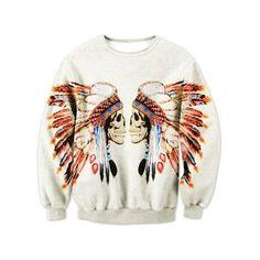 Mens Indian Day of the Dead Skull Black//Camo Raglan Baseball Sweatshirt Black