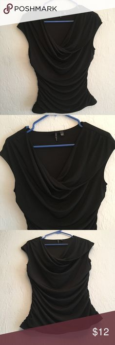 Sleeveless Black Top Love Haight Black Size : Large (Tall) Hanging neckline   96% Polyester, 4% Spandex  Colors may vary due to lighting, seller does its best to portray the right color. Love Haight Tops Blouses