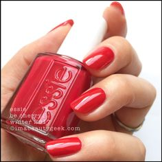 Essie: ❤️ Be Cherry ❤️ ... a pretty creme nail polish from the Winter 2017 Collection
