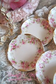 Limoges cakeplates I have these and love to mix and match them <3