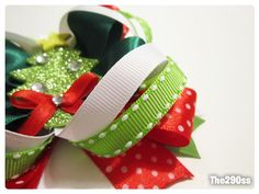 Stacked bow hair bow diy Super cute....long video but worth it.