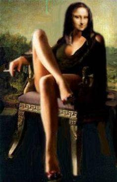 Comical illustration of Mona Lisa