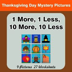 Thanksgiving math coloring pages. 9 Mystery Pictures with 27 Worksheets. Each worksheet includes 10 unique problems. Multiplying Integers, Simplifying Fractions, Math Fractions, Percents, Rounding, Greatest Common Factors, Math Coloring Worksheets, Pythagorean Theorem, Thanksgiving Math