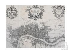A New Plan of the City of London, Westminster and Southwark Giclee Print by John Stow at Art.com