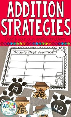 Use these addition task cards in math centers or small group to practice addition strategies. Students can use various strategies to solve and record their answers.