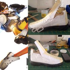 Shoes pattern. #cosplaygirl #cosplaywip #shoedesign #cosplay #tracercosplay #overwatchcosplay #overwatch #tracer