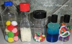 The Activity Mom: Baby Activity - Sensory Bottles - My son would love these I bet!