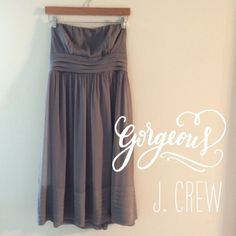 J. Crew Silk Dress Size 10 Graphite