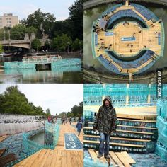 People build bridge out of plastic bottles in Romanian city!