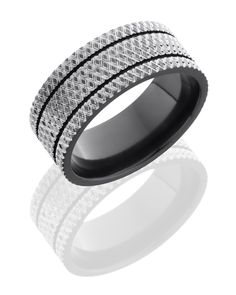 Men's 9mm Zirconium Band