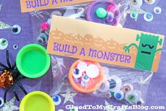 Skip the candy and pull together a CREATIVE gift idea that kids {and adults} will LOVE this Halloween season! Inspired by my son's LOVE of PlayDoh – this Build A Monster gift idea is super simple to pull together on the fly AND it's budget friendly too! Perfect for classroom parties or even allergy friendly trick-or-treaters! Throw …