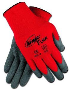 Memphis CN9680XL Ninja Flex Gloves, 15 Gauge Red Nylon Shell with Gray Latex Coating, XLarge by MCR Safety, http://www.amazon.com/dp/B002U0KEH2/ref=cm_sw_r_pi_dp_wz7krb1RF7V4C