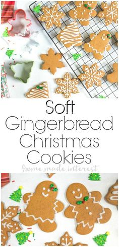 Soft Gingerbread Cookies | This soft gingerbread cookies recipe is a traditional gingerbread cookie that can be used for making gingerbread houses or a delicious gingerbread man. This gingerbread cookie recipe is a gingerbread cut-out cookie recipe that is perfect for Christmas dessert! AD #christmascookies #christmas #gingerbread #cookies