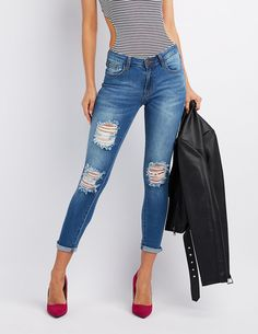 f643bf600c890 Machine Jeans Destroyed Skinny Jeans