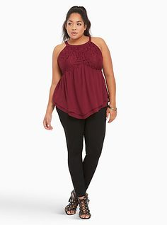 Lace Mock Neck Peplum TopLace Mock Neck Peplum Top, DEEP MERLOT