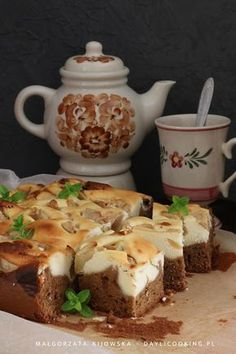 Tea Pots, Cheesecake, Good Food, Food And Drink, Cooking Recipes, Pudding, Sweets, Baking, Tableware