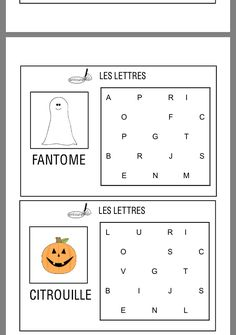 Bricolage Halloween, Halloween Crafts, Happy Halloween, Play Therapy Activities, Activities For Kids, French Course, French Expressions, Dragon Crafts, French Immersion