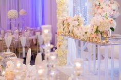 A closer look at the decor. This wedding was filled with flowers and candles. Simplistic elegance. Decor by Babylon Decor