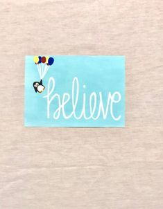 Excited to share this item from my #etsy shop: Believe painting, believe sign, penguin sign, inspirational painting, inspirational canvas, kids room decor, stretched canvas