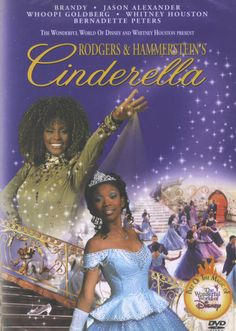 CINDERELLA DVD (R & H, 1997 VERSION) - 1997) Rodgers' and Hammerstein's music still delights us as we watch a more outspoken Brandy play the title role, Whitney Houston encourage her as fairy godmother and Bernadette Peters put her in her place as wicked stepmother. Jason Alexander provides comic relief in this Disney film. 88 min.