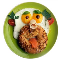 It's time for Fun with Food!! Start your day with a creative kick start.  #funwithfood #creativefood #drizzle #funforkids #healthy