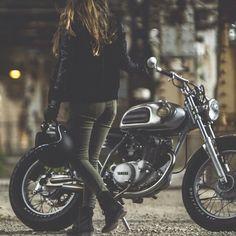 Helmet | Gloves | Yamaha Brat Tracker | Scrambler
