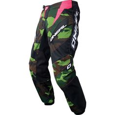 NEW ONeal Element Women's Camo/Pink Sz 5/6 Motocross Dirtbike Riding Gear Pants   eBay - Want these. Dirt Bike Pants, Dirt Bike Shirts, Dirt Bike Gear, Motorcycle Dirt Bike, Dirt Biking, Four Wheeler Accessories, Atv Gear, Motocross Kit, Women's Camo