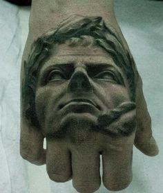 Stunning 3D hand tattoo