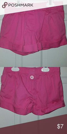 Girls Pink Shorts with Buttons Girls Pink Shorts with Buttons. Size M (7/8) George Bottoms Shorts