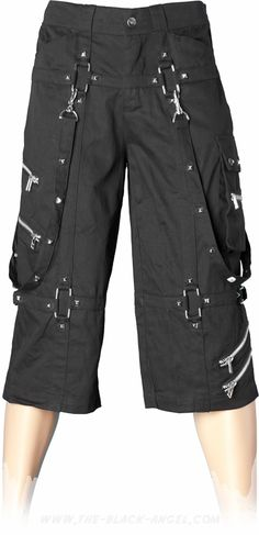 Over-knee cargo pants from the Queen of Darkness line of gothic clothing for men.