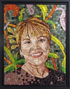 Mosaic portrait by an awesome woman, Shug Jones.