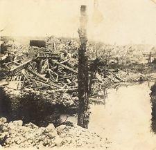 WWI,  1916 Ruins of Montdidier.