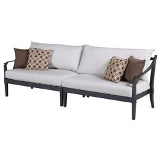 Whether you're adding to an existing outdoor seating set or using it for a smaller area, our Astoria Sofa in Moroccan Cream will bring style and charm to your space!