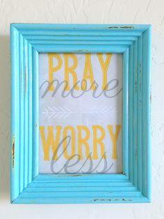 Tied Ribbon: Pray More, Worry Less Print