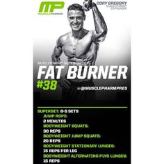 #MP Circuit Workout of the Day!  Fat Burner 38 by @MusclepharmPres  Powered by #ShredMatrix