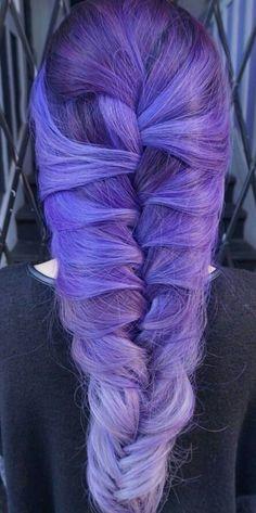 Purple dyed hair color @lo_reeeann