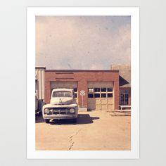 Route 66 Garage Art Print by Edward M. Fielding - $24.96