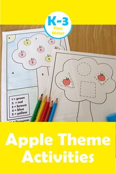 Looking for a Fall or Apple theme resource to help your kids develop their Fine Motor Skills? Download these activities today for your classroom or home school.