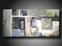 art painting PALLET KNIFE  original Abstract painting   24 X 48 Inches by JMJARTSTUDIO on Etsy