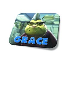 f24a04a13f1 Personalized Custom Name Mouse Pad Monsters Inc Roz Great Office Gift