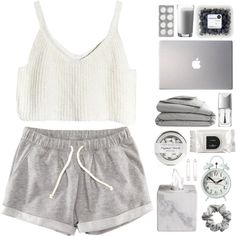 A fashion look from December 2014 featuring crop shirts, micro shorts and white earrings. Browse and shop related looks.