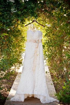 cute idea for wedding dress. Take it outside and get a beautiful picture....I feel like we could totally do this by our dressing room at the zoo!