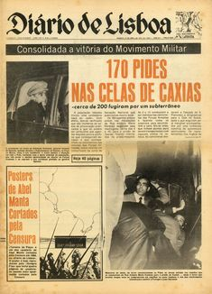 0001 [556 KB] History Of Portugal, Nostalgic Pictures, Newspaper Layout, Revolution, The Past, Black And White, Vintage, Posters, Events