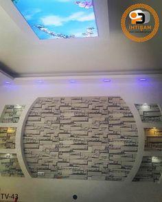 Bedroom Tv Unit Design, Living Room Partition Design, Living Room Tv Unit Designs, Room Partition Designs, Ceiling Design Living Room, False Ceiling Design, Interior Design Living Room, Lcd Wall Design, Tv Cabinet Design
