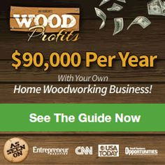 Woodworking Program woodworking projects that sell well ~ Wood Profits Banner 1 - Do you enjoy wood crafting? Then, you can turn your hobby into a lucrative business with woodworking projects that sell well. Read this article to know how. Woodworking Business Ideas, Woodworking Projects That Sell, Learn Woodworking, Custom Woodworking, Woodworking Plans, Woodworking School, Woodworking Courses, Carpentry Projects, Poker Table Plans